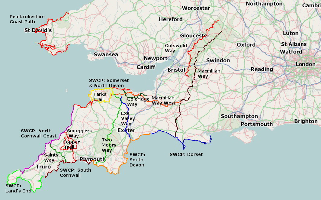 self guided walking holidays from westcountry walking holidays
